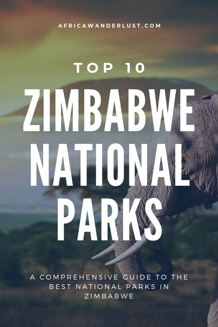 Are you planning a trip to Zimbabwe and wondering the best national parks to visit? Our list of the best Zimbabwe National Packs will take your breath away! The Hwange national park, Victoria Falls national park, Zambezi national park, Mana Pool national park, and Matobo national parks are amongst the best in the nation. #zimbabwe