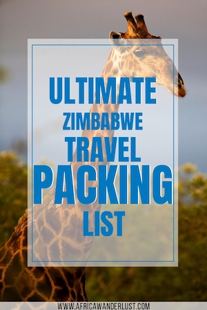 Do you need help about what to pack for your next Zimbabwe travel trip? I've rounded up everything you need for your vacation. There's also a free printable packing list to help with your preparation.