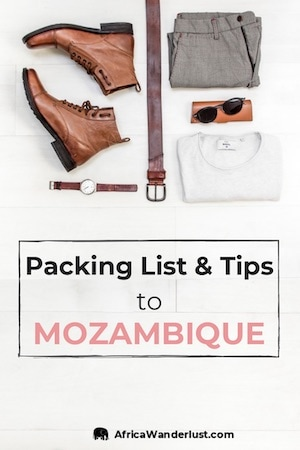 Mozambique Travel Packing List