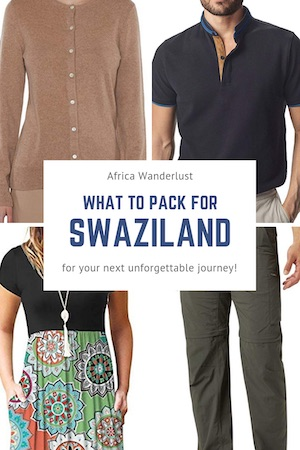 Need help packing for Swaziland? This post has packing tips and a list of the five pieces of travel gear that are must-haves for what will be the trip of a lifetime! Whether you're going on safari, visiting Mbabane, Lobamba, or Hlane Royal National Park, click through to read a guide on everything you need to pack if you plan to travel to Swaziland. #africa, #african #packingguide #packinghacks #africatravel #africatraveloutfit #packingguide #africatravel #africatraveloutfit #swaziland