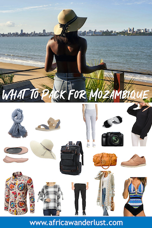 Mozambique packing list